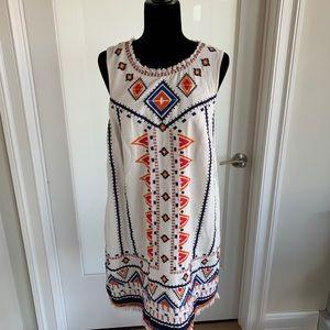 Anthropologie Sleeveless print dress